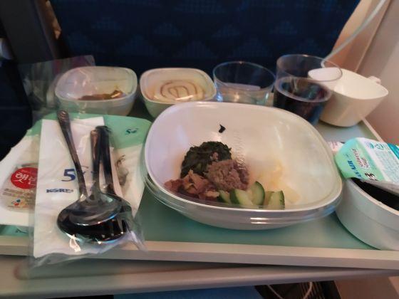 Obiad w samolocie
